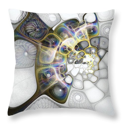Digital Art Throw Pillow featuring the digital art Memories II by Amanda Moore