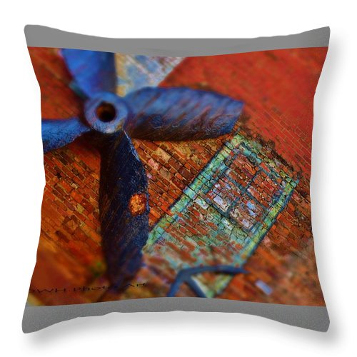 Landscape Throw Pillow featuring the photograph Memories Of A Fishing Town. by David Healey