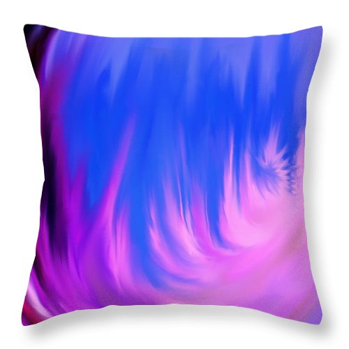 Abstract Throw Pillow featuring the digital art Memories Of Dominica by Ian MacDonald