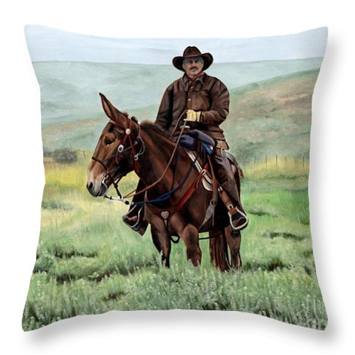 Usa Throw Pillow featuring the painting Memories Of Molly by Mary Rogers