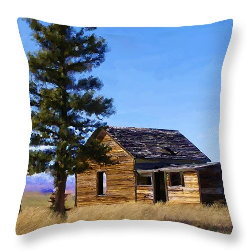 Relic Throw Pillow featuring the painting Memories Of Montana by Susan Kinney