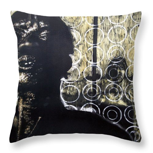 Throw Pillow featuring the mixed media Memories Of Our Parting by Chester Elmore