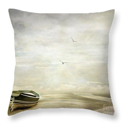 Beach Throw Pillow featuring the photograph Memories by Jacky Gerritsen