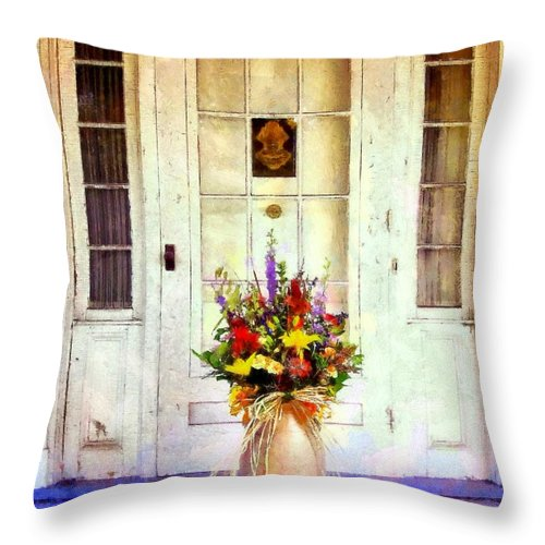 Farmhouse Throw Pillow featuring the photograph Memory Lane by Janine Riley