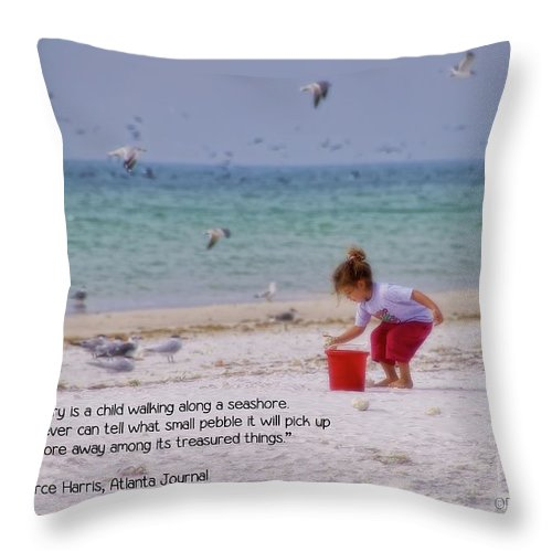 Young Throw Pillow featuring the photograph Memory by Peggy Hughes