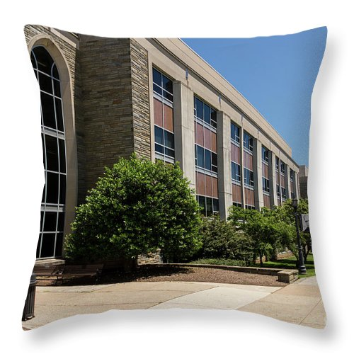 Vu Throw Pillow featuring the photograph Mendel Hall by William Norton