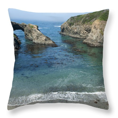 Bronstein Throw Pillow featuring the photograph Mendicino County Viewpoint by Sandra Bronstein