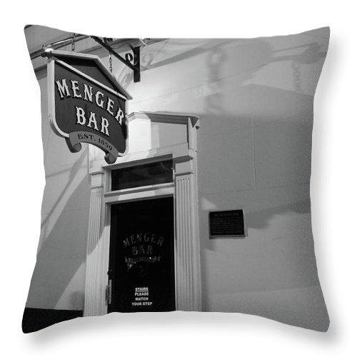 Bar Throw Pillow featuring the photograph Menger Bar by Robert A Jones