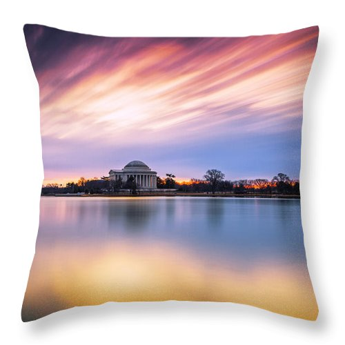 Washington Dc Throw Pillow featuring the photograph Mental Attitude by Edward Kreis