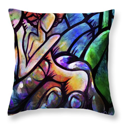 Mercy Throw Pillow featuring the digital art Mercy's Hand by AC Williams