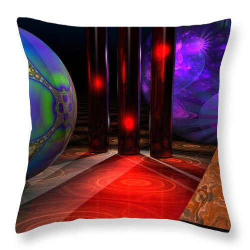 3d Throw Pillow featuring the digital art Merlin's Playground by Lyle Hatch