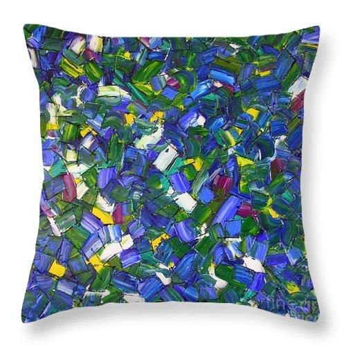 Mermaid Throw Pillow featuring the painting Mermaid by Dawn Hough Sebaugh