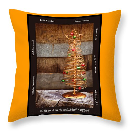 Still Life Throw Pillow featuring the photograph Merry Christmas by Holly Kempe