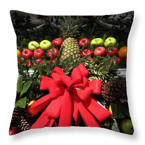 Christmas Cards Throw Pillow featuring the photograph Merry Christmas by Susanne Van Hulst