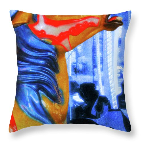 Horse Throw Pillow featuring the photograph Merry Go Round by JAMART Photography