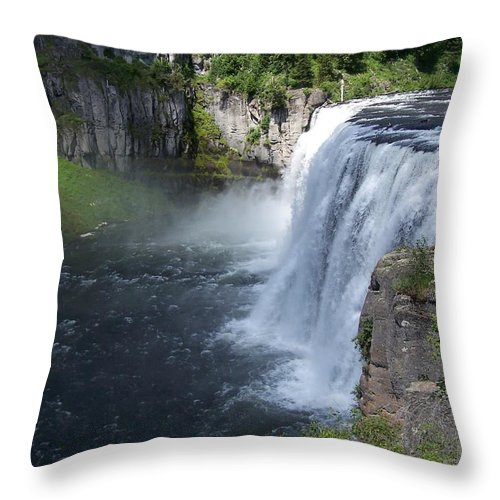 Landscape Throw Pillow featuring the photograph Mesa Falls by Gale Cochran-Smith