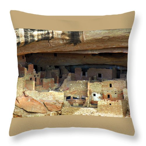 Americana Throw Pillow featuring the photograph Mesa Verde by Marilyn Hunt