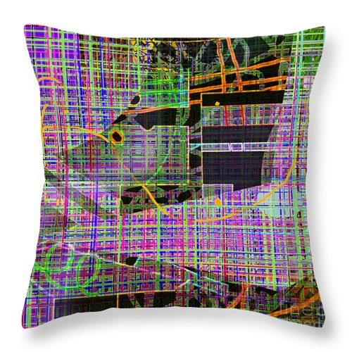 Grid Throw Pillow featuring the digital art Mesh Iv by Andy Mercer