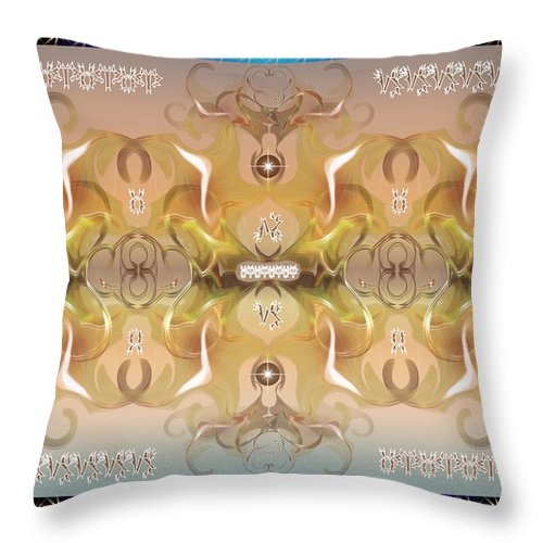 Fantasy Throw Pillow featuring the digital art Message From Space by George Pasini