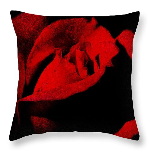 Seduction Throw Pillow featuring the digital art Seduction In Red by Max Steinwald