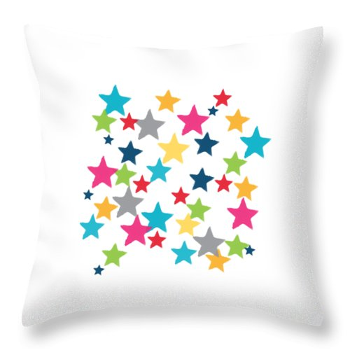 Messy Stars Shirt Throw Pillow For Sale By Linda Woods