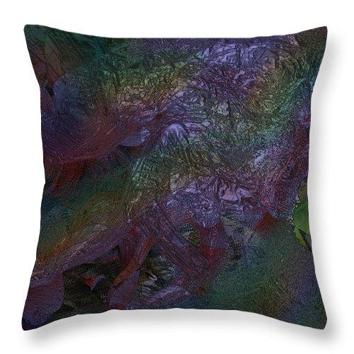 Digital Throw Pillow featuring the digital art Metallic Color by J P Lambert