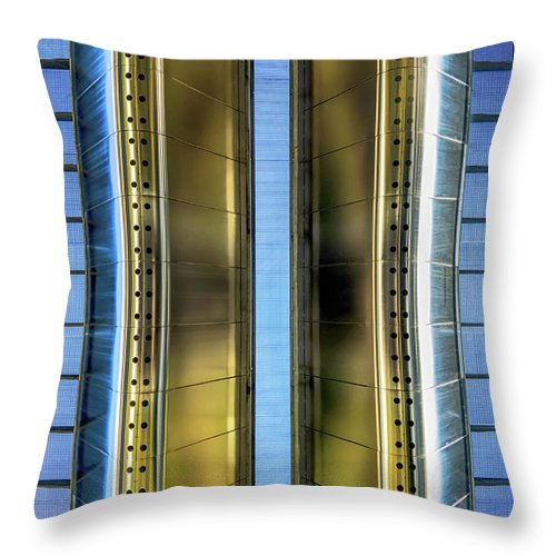 Metallic Throw Pillow featuring the photograph Metallic by Wim Lanclus