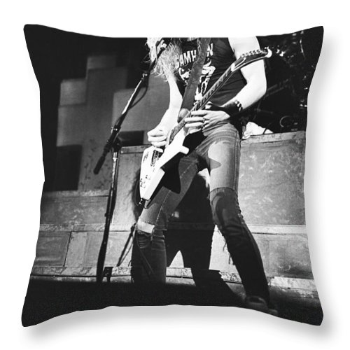 Metallica '40 Throw Pillow For Sale By Chris Deutsch Adorable Metallica Throw Blanket