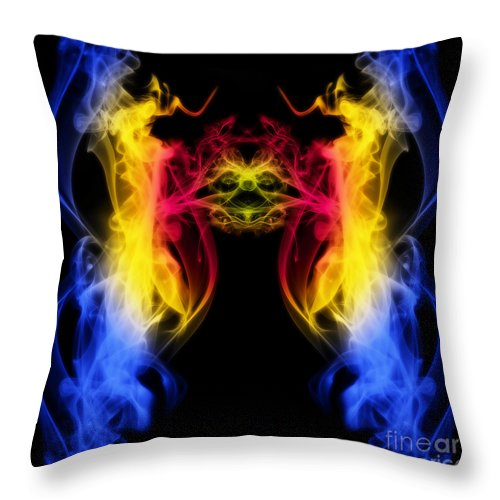 Clay Throw Pillow featuring the digital art Metamorphis by Clayton Bruster