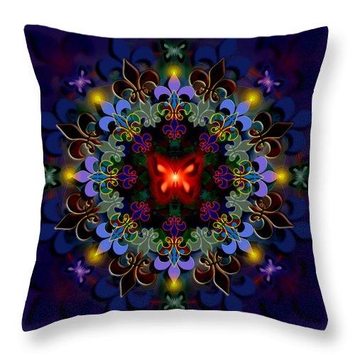 Spiritual Throw Pillow featuring the digital art Metamorphosis Dream II by Stephen Lucas