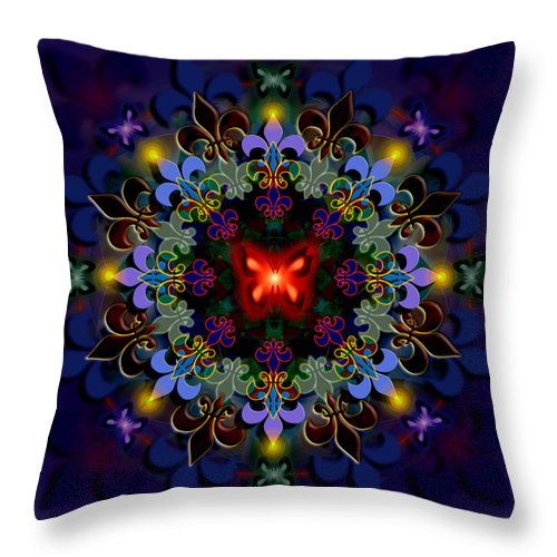 Spiritual Throw Pillow featuring the digital art Metamorphosis Dream II by Stephen Lucas