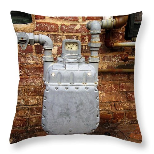 Meter Throw Pillow featuring the photograph Meter II In Athens Ga by Flavia Westerwelle