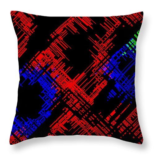 Methodical Throw Pillow featuring the digital art Methodical by Will Borden
