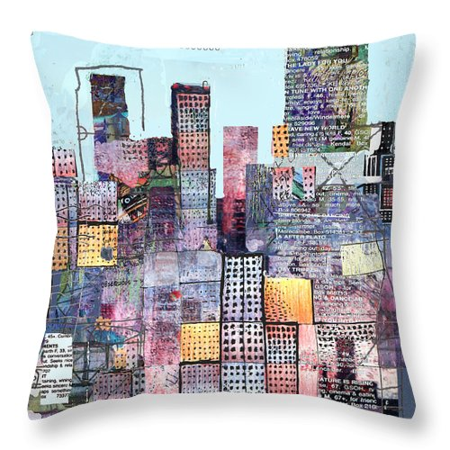 Metro Throw Pillow featuring the digital art Metropolis 3 by Andy Mercer