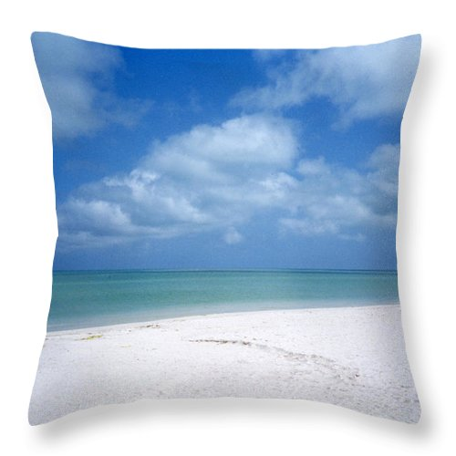 Beach Throw Pillow featuring the photograph Mexican Beach by Jessica Wakefield
