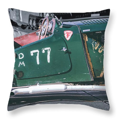 Mg Throw Pillow featuring the photograph Mg-tc Supercharged Side View by David Natho