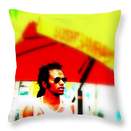 People Throw Pillow featuring the photograph Miami Attitude by Funkpix Photo Hunter