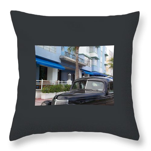 Charity Throw Pillow featuring the photograph Miami Beach by Mary-Lee Sanders