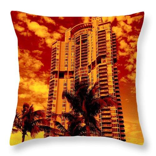 Miami Prints Throw Pillow featuring the photograph Miami South Pointe IIi by Monique's Fine Art