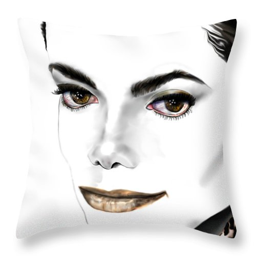 Michael Throw Pillow featuring the painting Michael J by Reggie Duffie