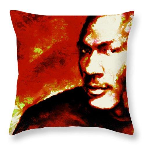 466fbf11748773 Michael Jordan Throw Pillow featuring the mixed media Michael Jordan 6 Rings  by Brian Reaves