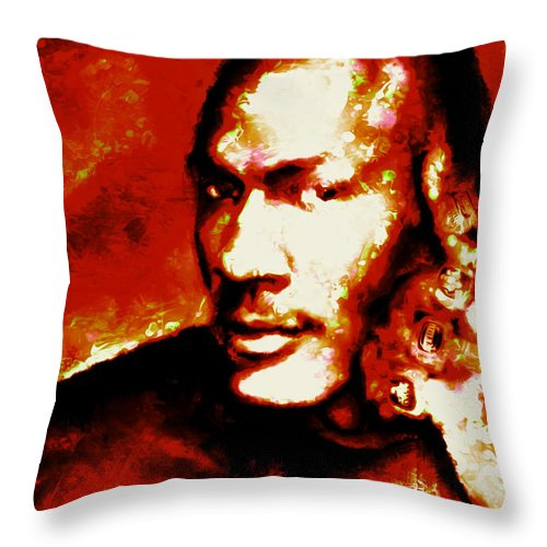 466fbf11748773 Michael Jordan Throw Pillow featuring the mixed media Michael Jordan 6 Rings  by Brian Reaves