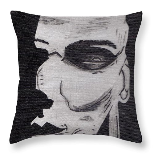 Halloween Throw Pillow featuring the painting Halloween Character by Jill Christensen