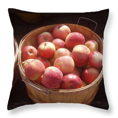 Apples Throw Pillow featuring the photograph Michigan Apples by Wayne Potrafka