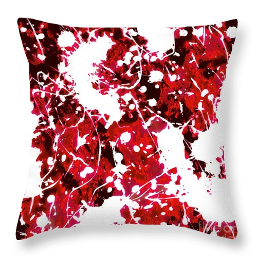 Acrylic Abstract Painting Throw Pillow featuring the digital art Microscopic Insecticide 4 by Tim Richards