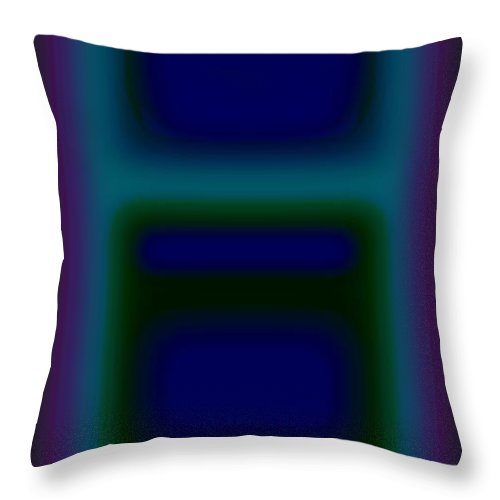 Landscape Throw Pillow featuring the painting Microwave Blue by Charles Stuart