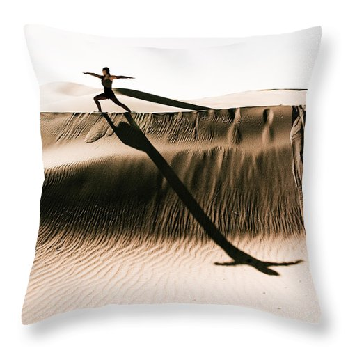 Yoga Throw Pillow featuring the photograph Mid Morning Anthem by Scott Sawyer