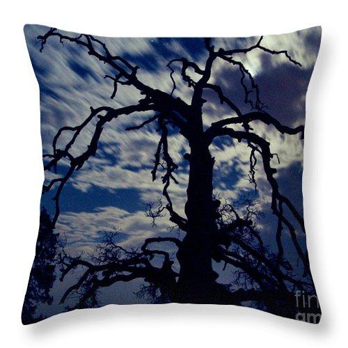 Clouds Throw Pillow featuring the photograph Midnight Blue by Peter Piatt
