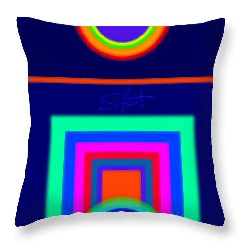 Classical Throw Pillow featuring the digital art Midnight Journey by Charles Stuart