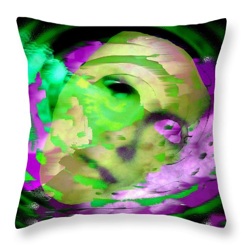 Midnight Throw Pillow featuring the digital art Midnight Mask by Seth Weaver